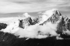 Dreischusterspitze in Wolken