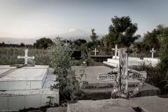 Alter Friedhof vor dem Springlands Hotel